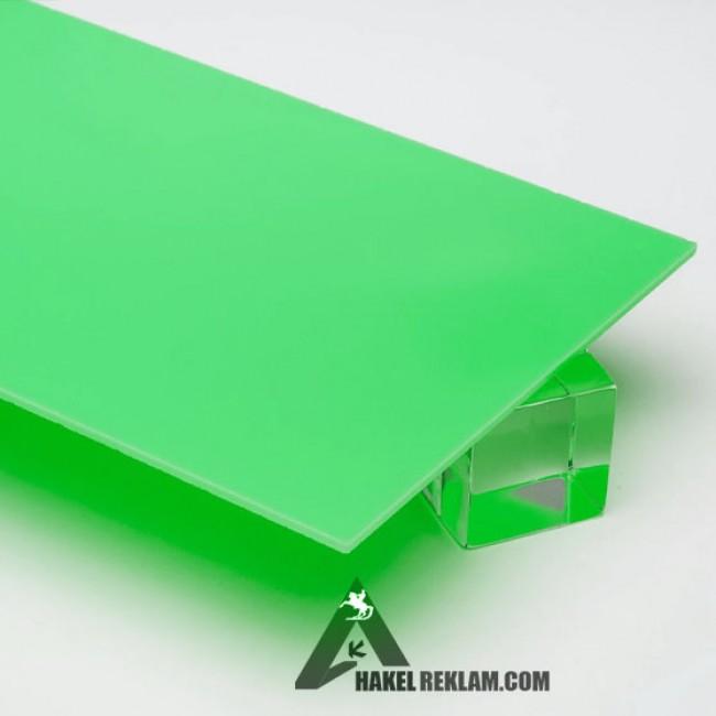 Özel Kesim 2.8 mm Parça Pleksi -Çimen Yeşili
