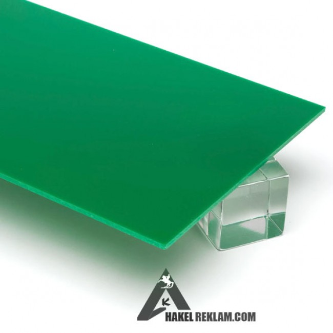 Özel Kesim 2.8 mm Parça Pleksi -Yeşil