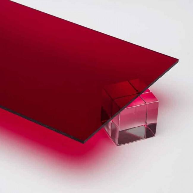 2.8 mm Transparan Pleksi Kırmızı - 135 x 200 cm