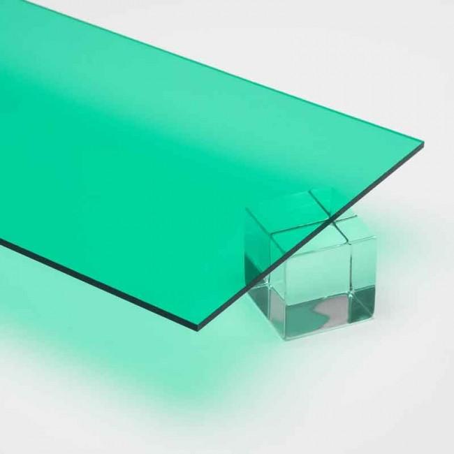 Özel Kesim 2.8 mm Transparan Parça Pleksi Yeşil