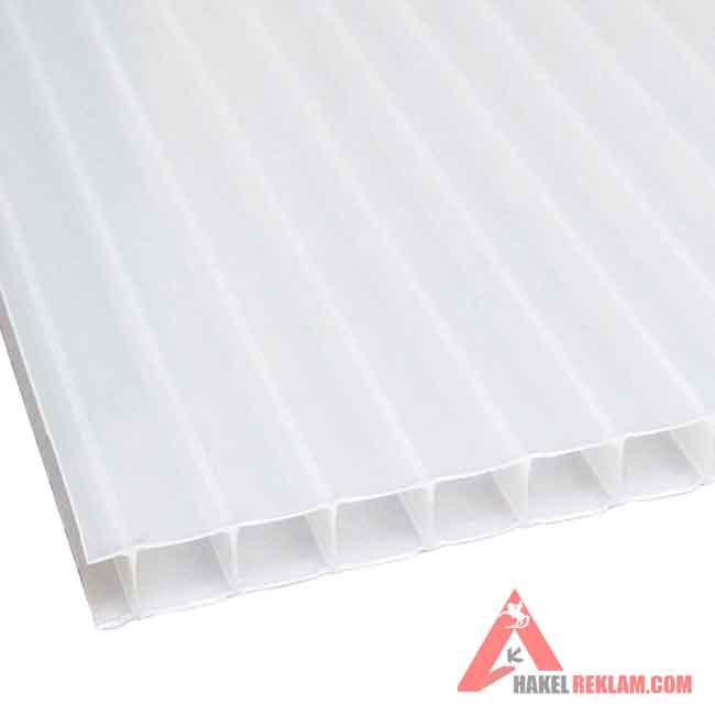 Beyaz Polikarbon 6 mm - 210x600 cm