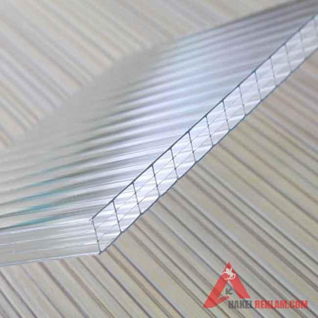 Şeffaf Polikarbon 6 mm - 210x600 cm