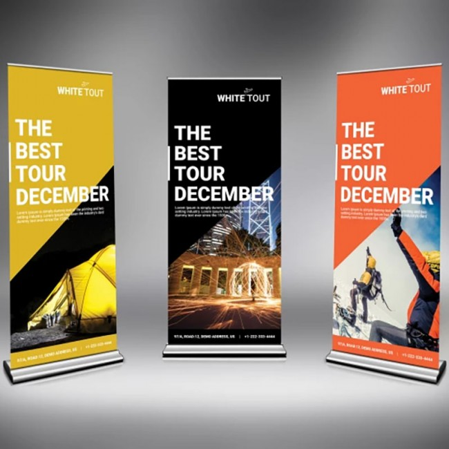 Roll Up Banner 85x200 cm.