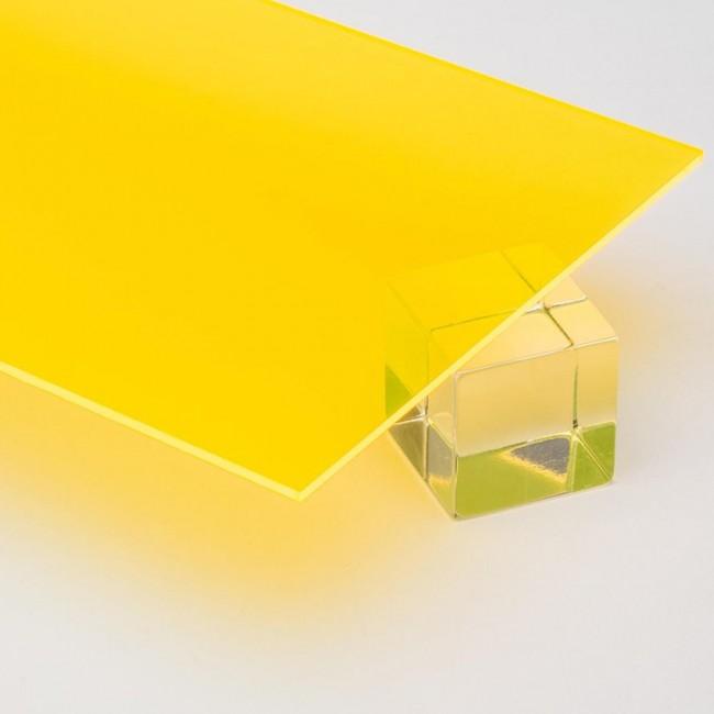 Harf / Karakter Kesim Transparan Sarı Pleksi 2.8 mm