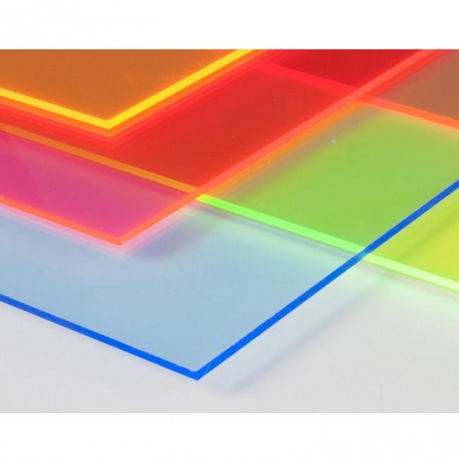 Harf / Karakter Kesim Transparan Mavi Pleksi 2.8 mm