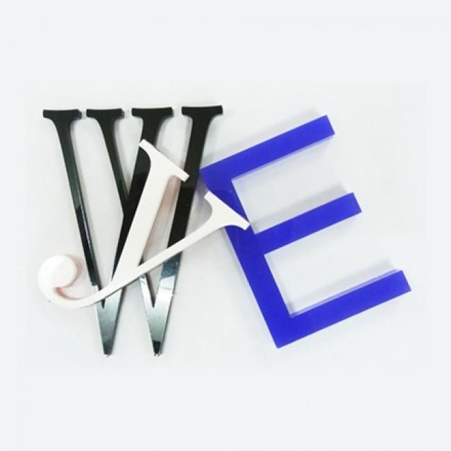 Harf / Karakter Kesim Beyaz Pleksi 2 mm