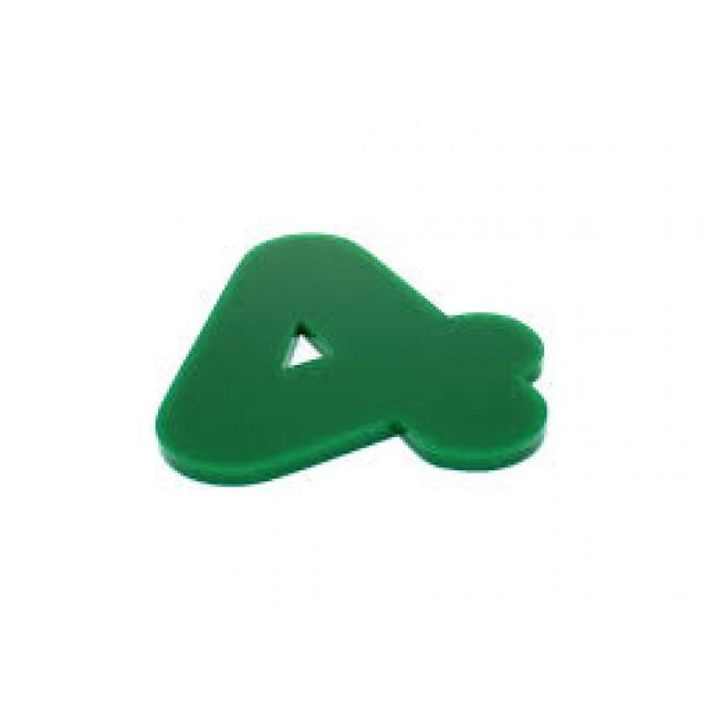 Harf / Karakter Kesim Koyu Yeşil Pleksi 2.8 mm